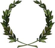 Gałązka oliwna wianek ilustracji