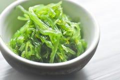Gałęzatki sałatka Wakame lub Chuka, Japoński jedzenie Zdjęcia Royalty Free