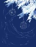 gałęziasta błękit choinka Obraz Royalty Free