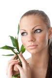 gałęziasta bambus dziewczyna Obraz Stock