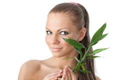 gałęziasta bambus dziewczyna Fotografia Royalty Free