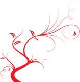 gałęziasty czerwony drzewo royalty ilustracja