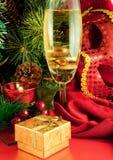 gałęziasty karciany szampański bożych narodzeń futerka drzewo Obraz Royalty Free
