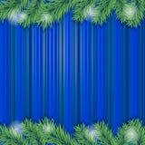 gałęziastych bożych narodzeń ramowy drzewo Obrazy Stock