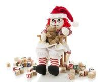 Gałganiana lala Kołysa Jej dziecka Zdjęcie Stock