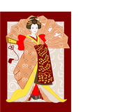 ιαπωνικός παραδοσιακός &ga Στοκ Εικόνες