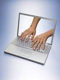 ο υπολογιστής λειτούρ&ga Στοκ Εικόνες