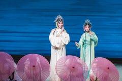 """Ga bezienswaardigheden bezoekend op het Westen meer-Kunqu Opera""""Madame Witte Snake† Royalty-vrije Stock Afbeelding"""