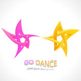 Ga dans Dansende onmogelijke ster 3D voor Uw project Royalty-vrije Stock Fotografie