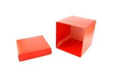 Ga de doos in stock afbeelding