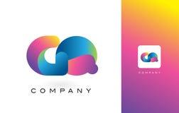 GA de Mooie Kleuren van Logo Letter With Rainbow Vibrant Kleurrijk t Royalty-vrije Stock Afbeelding