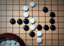 Ga de positie van het raadsspel stock afbeelding