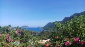 Ga echt van het de aardstrand van het reislandschap het eilandfoto stock fotografie