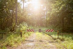 Ga geen gesloten manier aan paradijs in Stock Foto
