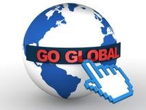 Ga globaal royalty-vrije illustratie