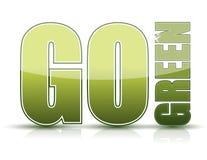 Ga groen Stock Afbeelding