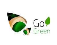 Ga groen abstract aardembleem Stock Foto's