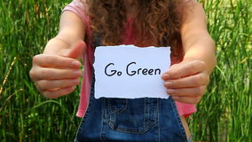 Ga Groen concept stock video