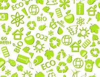 Ga groen eco naadloos patroon Royalty-vrije Stock Afbeeldingen