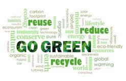 Ga Groen eco vriendschappelijk concept Stock Foto