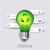 Ga groen Infographic-malplaatje Stock Foto