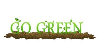 Ga Groen met bladeren en lieveheersbeestje royalty-vrije illustratie