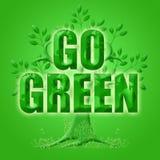 Ga Groen met Boom Eco en Planeet Stock Afbeeldingen