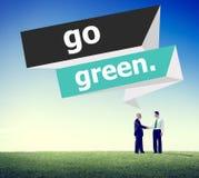 Ga Groen Milieubehouds Bedrijfsconcept Stock Foto's