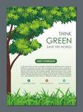 Ga Groen, sparen Aardvlieger, Banner of Pamflet royalty-vrije illustratie