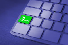 Ga groen toetsenbord Stock Afbeeldingen