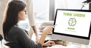 Ga Groen verfrissen zich denken Groen Concept Stock Foto's