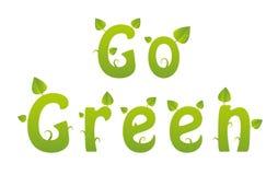 Ga groen woord Stock Afbeeldingen