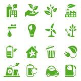 Ga Groene geplaatste Pictogrammen - 02 Stock Afbeeldingen