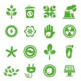Ga Groene geplaatste Pictogrammen - 04 Royalty-vrije Stock Fotografie