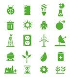 Ga Groene geplaatste Pictogrammen - 05 Stock Foto's