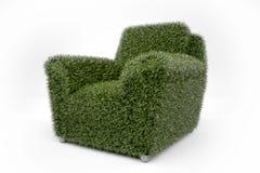Ga groene leunstoel Stock Afbeelding