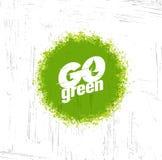 Ga Groene logotype met een boompictogram en typografisch Vector illustratie Royalty-vrije Stock Foto's