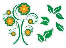 Ga groene pictogramreeks Royalty-vrije Stock Foto's