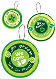 Ga groene pictogramreeks Royalty-vrije Stock Foto
