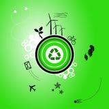 Ga groene planeet Stock Afbeelding