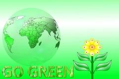 Ga het groene organische concept van de Aardecologie stock illustratie