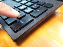 Ga knoop op het toetsenbord in royalty-vrije stock foto's
