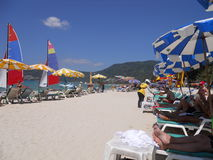 Ga naar het strand Royalty-vrije Stock Afbeeldingen