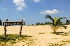 Ga naar het strand Royalty-vrije Stock Afbeelding