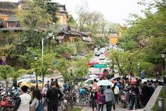 Ga naar Xuanwu-Meer de menigte spelen Royalty-vrije Stock Foto
