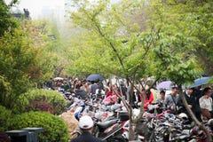 Ga naar Xuanwu-Meer de menigte spelen Stock Afbeelding