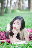 Ga op een picknick Royalty-vrije Stock Foto