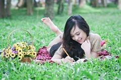 Ga op een picknick Royalty-vrije Stock Afbeeldingen