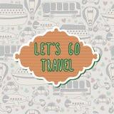 Ga reiskader reis concept Naadloos patroon Royalty-vrije Stock Afbeeldingen