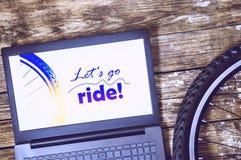 Ga rit Een deel van het fietswiel E royalty-vrije stock foto